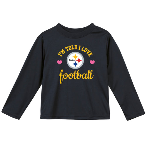 Pittsburgh Steelers Girls Long Sleeve Tee