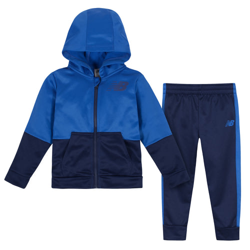 New Balance 2-Piece Boys Lapis Blue Fleece Jacket and Pant Set