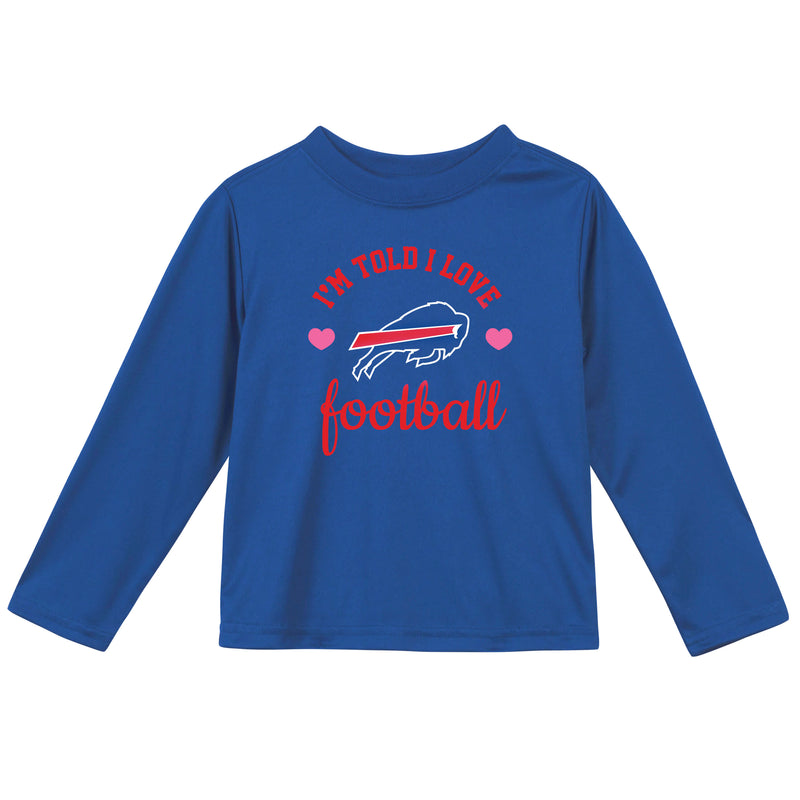 Buffalo Bills Girls Long Sleeve Tee