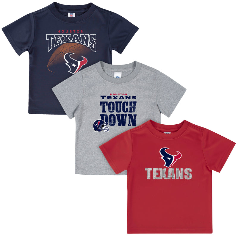 Houston Texans Boys 3-Pack Short Sleeve Tees