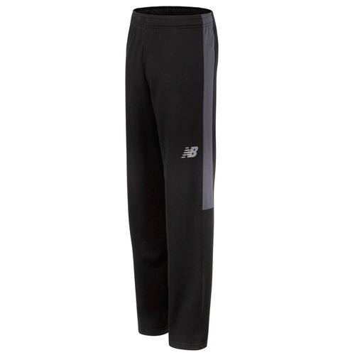 New Balance Boys Black/Thunder Fleece Athletic Pant