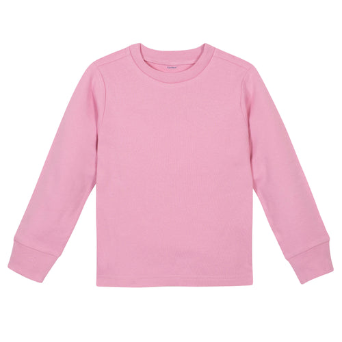Girls Light Pink Classic Long Sleeve Tee Shirt