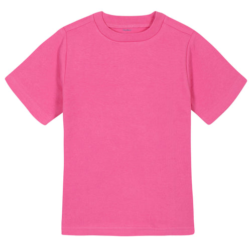 Girls Hot Pink Classic Short Sleeve Tee Shirt