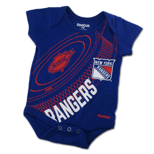 Baby Rangers Fan Hockey Onesie
