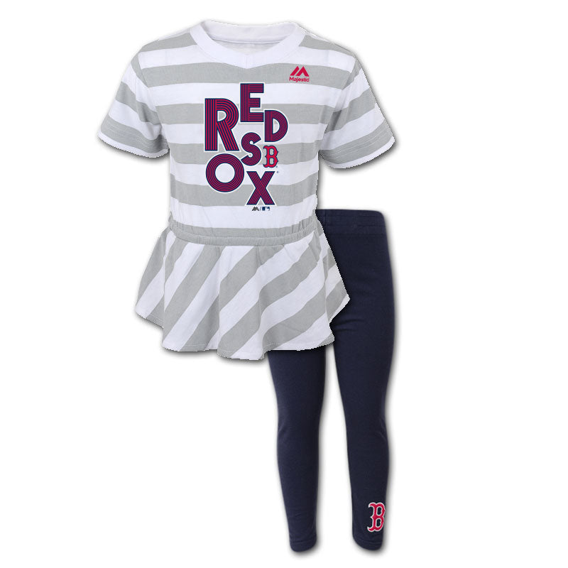 Boston Red Sox Infant Girl Top & Capri Outfit