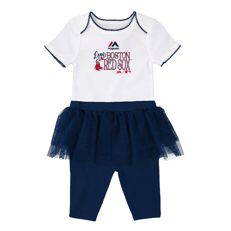Red Sox Baby Girl Creeper and Tutu Leggings