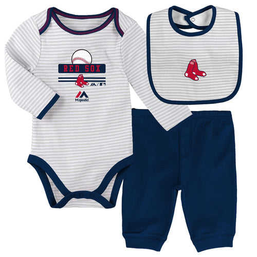 Baby Red Sox Onesie, Bib and Pant Set