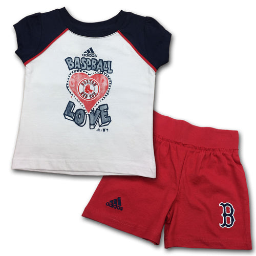 Red Sox Infant Girl T-Shirt and Short Set (12-24M)