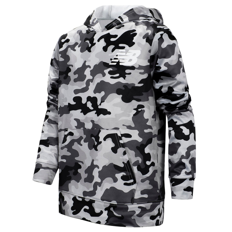 New Balance Boys Camo Gray Graphic Hoodie