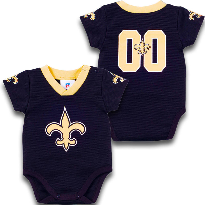 Baby Saints Football Jersey Onesie