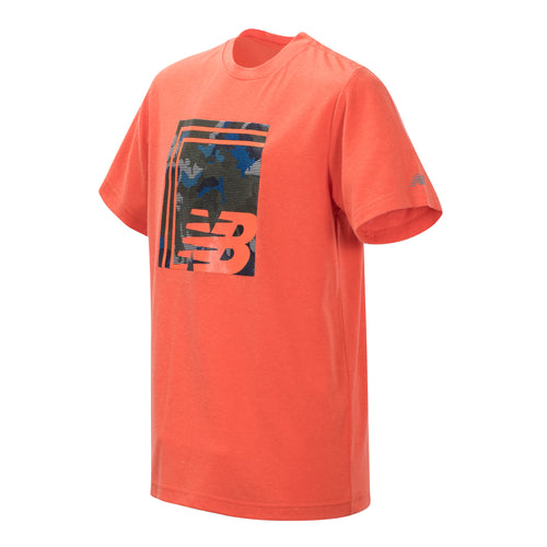 New Balance Boys Coral Glow Short Sleeve Graphic Tee