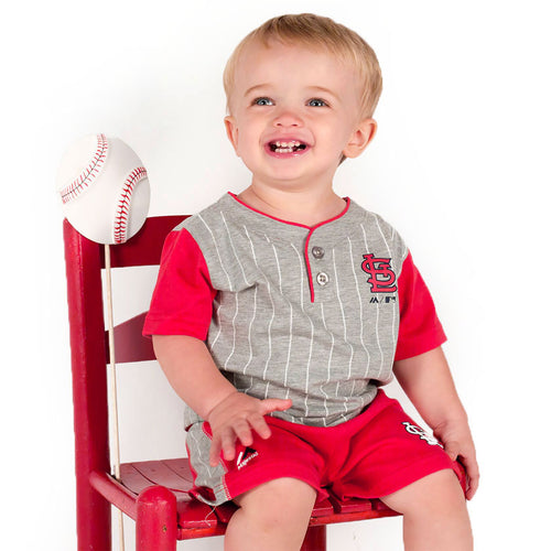 Cardinals Bat Boy Short Set