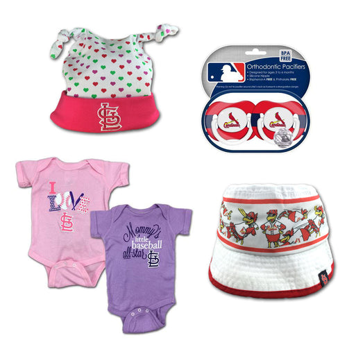 Mlb baby clothing st louis cardinals babyfans babyfans cardinals infant girl gift set negle Image collections