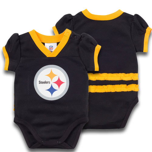 Baby Steelers Girl Jersey Onesie