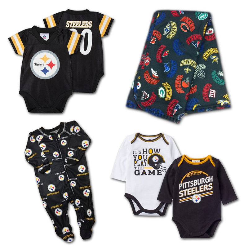 Pittsburgh Steelers 4 Piece Baby Fan Gift Set (6-9M)