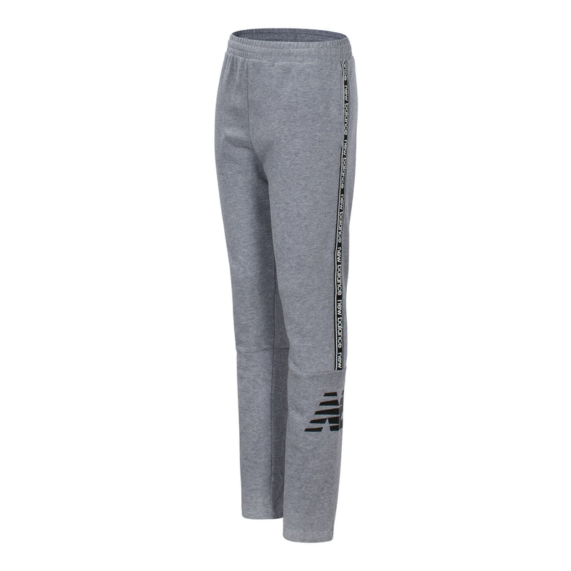 New Balance Girls Grey Heather Terry Track Pant