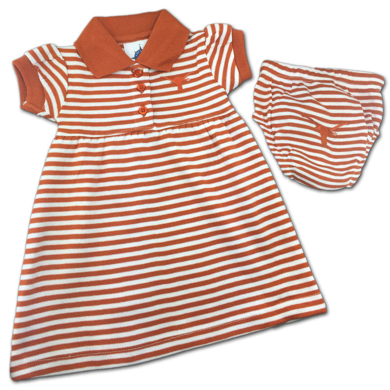 Texas Striped Polo Dress with Bloomers