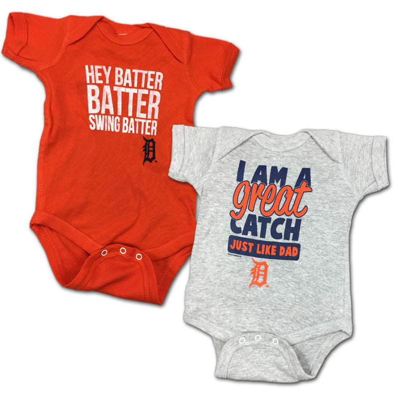"Tigers ""Hey Batter"" Bodysuit 2 Pack"