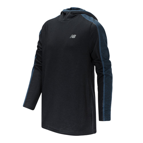 New Balance Boys Black/Lapis Blue Hooded Pullover