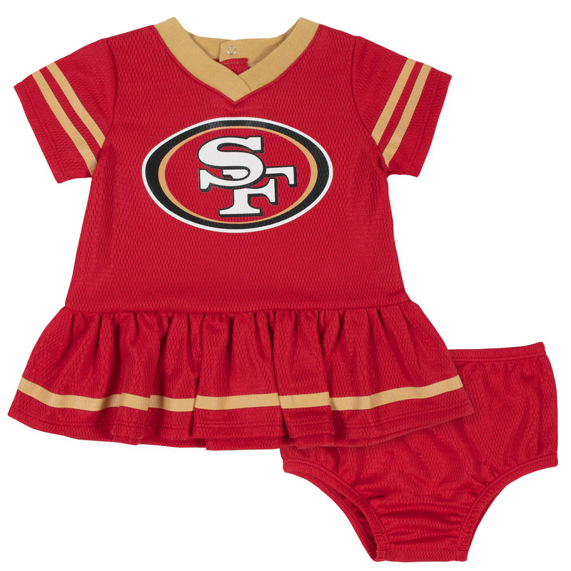 49ers Baby Girl Team Dress with Bloomers