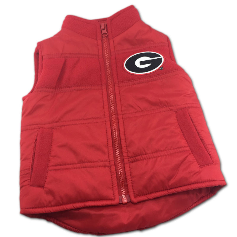 UGA Toddler Puffy Vest