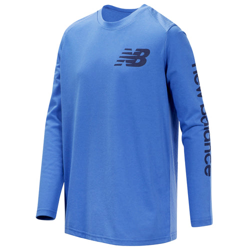 New Balance Boys Lapis Blue Long Sleeve Tee