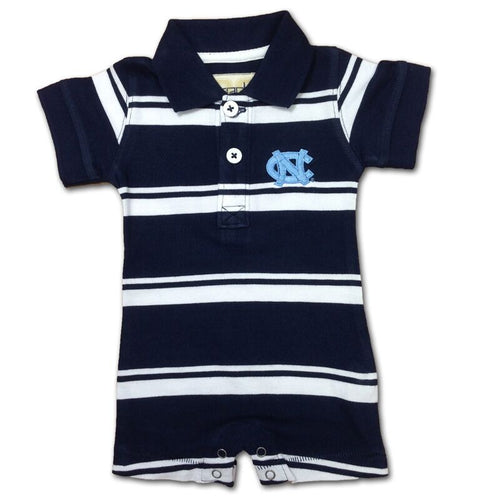 UNC Tarheels Baby Striped Romper