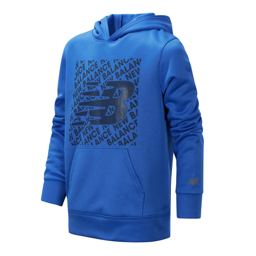New Balance Boys Lapis Blue Graphic Hoodie