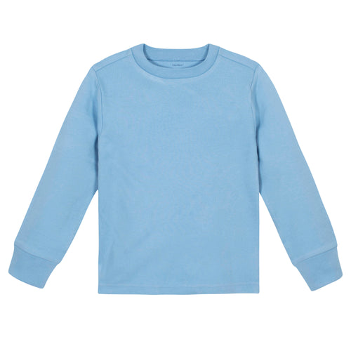Boys Light Blue Classic Long Sleeve Tee Shirt
