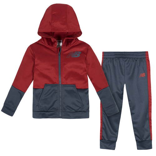 New Balance 2-Piece Boys Tempo Red/Thunder Fleece Jacket Set