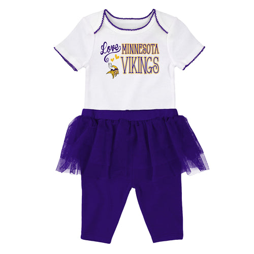 Vikings Baby Girl Creeper and Tutu Leggings