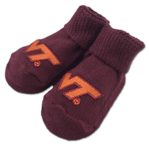Virginia Tech Newborn Booties