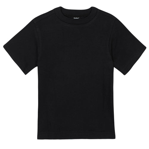 Boys Black Classic Short Sleeve Tee Shirt
