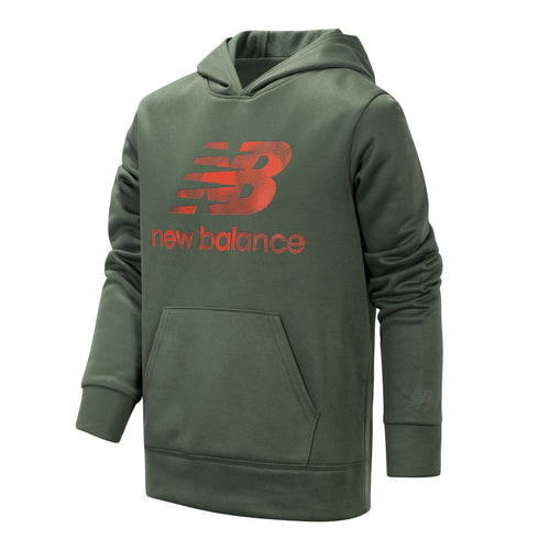 New Balance Boys Slate Green Graphic Hoodie