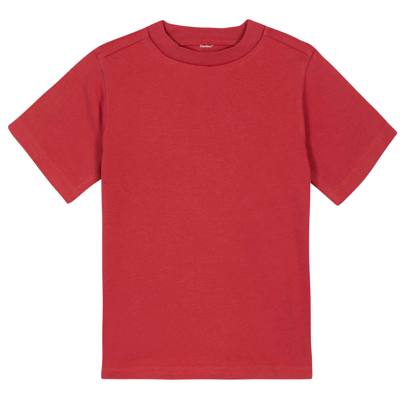Red Classic Short Sleeve Tee Shirt