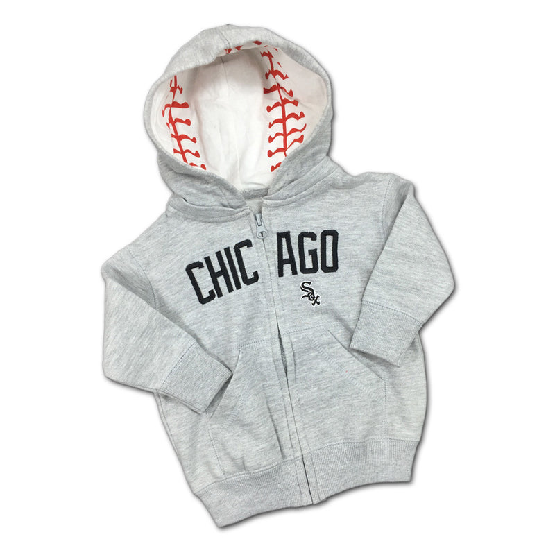 Embroidered Zip Up White Sox Toddler Hoodie