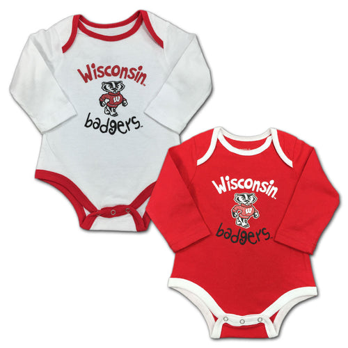 Wisconsin One-Piece  Wisco Bodysuit  Badgers Baby Outfit  Badgers  UW Madison  The Busy Bee