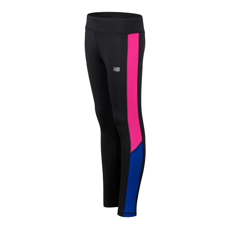 New Balance Girls Black/Contrast Tights