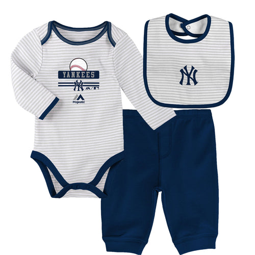 Baby Yankees Onesie, Bib and Pant Set