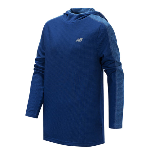 New Balance Boys Techtonic/Lynx Blue Hooded Pullover