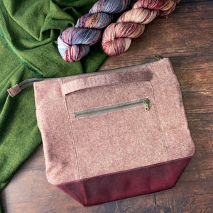 *Rust*  Zippered Knitting Project Bag- *PREORDER-SHIPS IN 6-8 WEEKS*