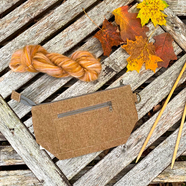 Woodsy and Wild Sapling Bag- Autumn Collection Zippered Knitting Project Bag