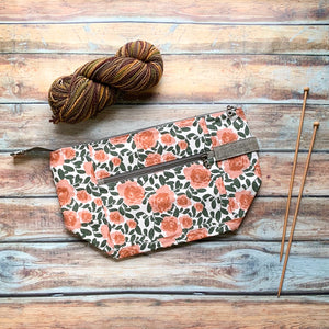 Woodsy and Wild Birch Bag- Desert Rose Zippered Knitting Project Bag
