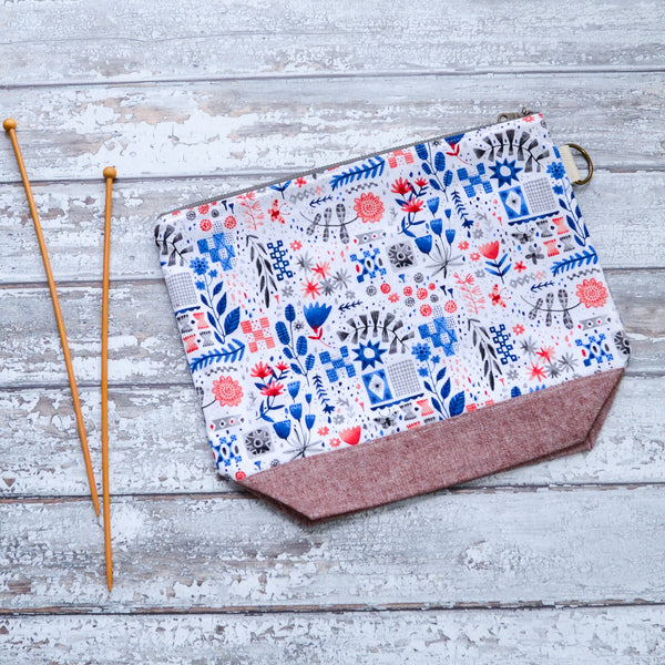 Tiles and Flowers Project Bag