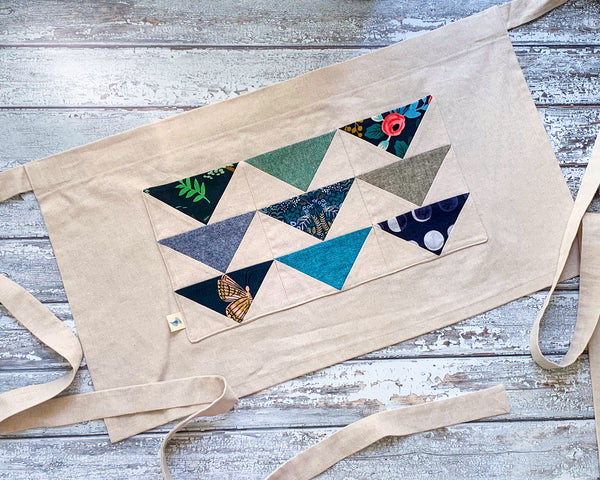 Bluebonnet and Eucalyptus Flying Geese Apron