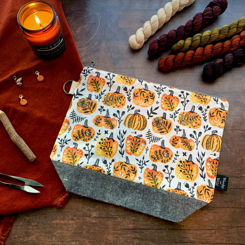 Folksy Pumpkins Project Bag