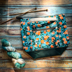Bag of the Week- *Darling Clementine*  Zippered Knitting Project Bag
