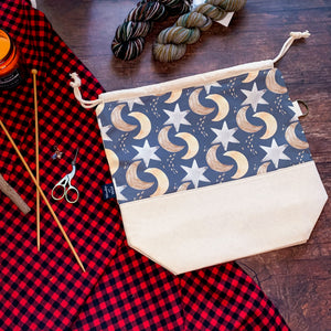 *Holiday Nights*  Zippered Knitting Project Bag