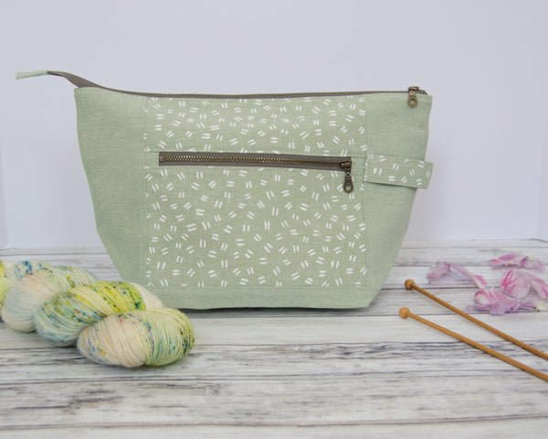 Woodsy and Wild Birch Bag- Spring Collection Zippered Knitting Project Bag