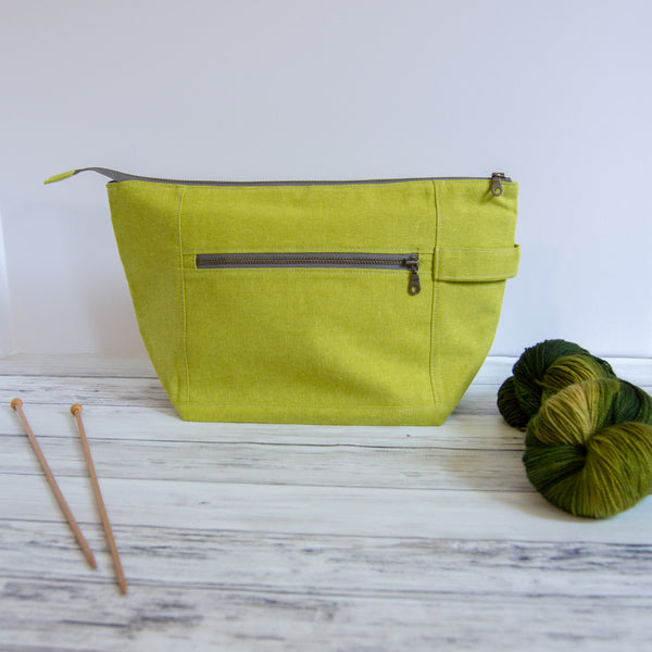 Woodsy and Wild Birch Bag- Classic Collection Zippered Knitting Project Bag